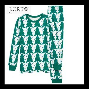Crewcuts J. Crew Tree print pajamas set boys sz:6
